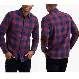 New J Crew Rugged Elbow Patch Gingham Plaid Shirt